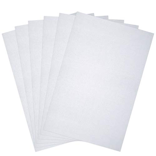 Pllieay 6 Pieces 14 Count Classic Reserve Aida Cloth Cross Stitch Cloth, 12 x 18 inch (White)