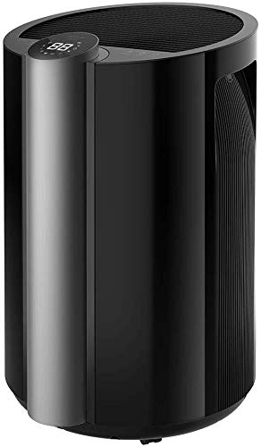 Cecotec Deshumidificador Big Dry 9000 Professional Black. Temporizador 12h, 20L/día, Depósito extraíble 4,5L, Cobertura 250m3/h, Gas R290, Silencioso, Humedad 40% a 80%, Pantalla LED