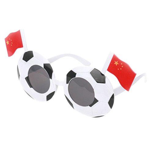 LUOEM Fußball Sonnenbrille Brillen 2018 Welt Cup Fanci-Frames Sport Fan Kostüm Fußball Partei Liefert (China)