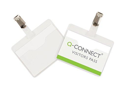 Q-Connect KF01560 Besucher-Namensschild 60 x 90 mm 25 Stück