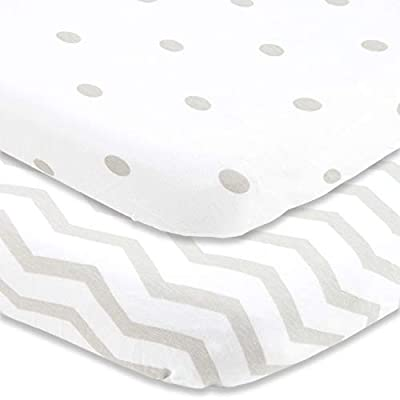 Pack n Play Sheets Fitted for Graco by Cuddly Cubs | Portable Playard Crib Sheets Easily Fits On Guava Lotus, 4Moms Breeze and Other Playpen, Play Yards and Travel Lite Mini Crib Sheets | Grey