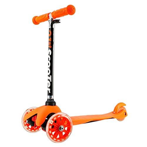 SOPHM5 Patinete Freestyle Patear Scooter con Ruedas de Flashing de PU, 3 Ruedas para niños Scooter Altura Ajustable MAX Cargar 50kg, Regalos para niños y niñas (Color : D)