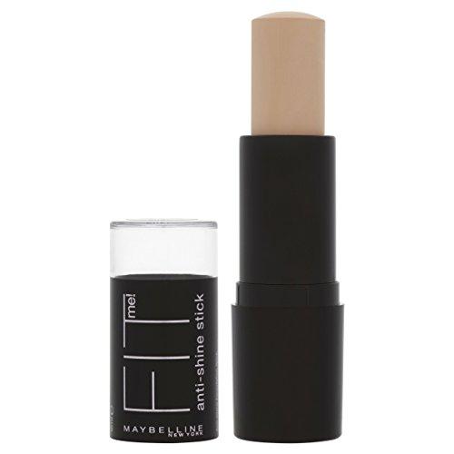 Maybelline New York Fit Me! 2-in-1 Anti Glanz Make-Up Stick Classic Ivory 120 / Schminke in einem Hautfarben-Ton, für eine langanhaltende Abdeckung und einen makellosen Look, 1 x 9 g