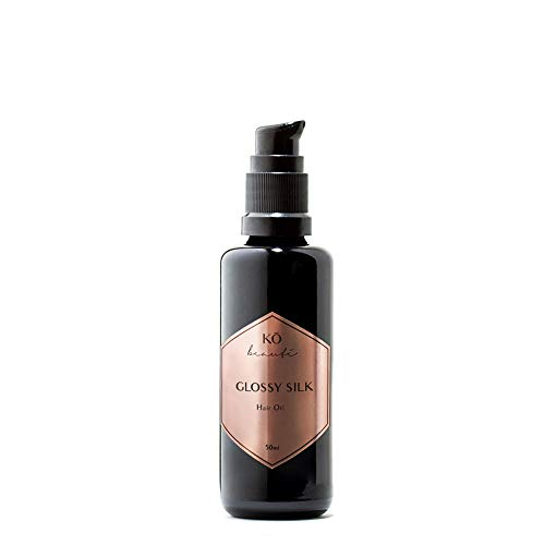 KÖ beauté Glossy Silk Oil 50 ml Pflege Leave-in Haaröl mit Moringaöl für widerspenstiges und störrisches Haar, leichte Kämmbarkeit, ohne Silikone, mehr Textur und Griffigkeit, verbessertes Styling