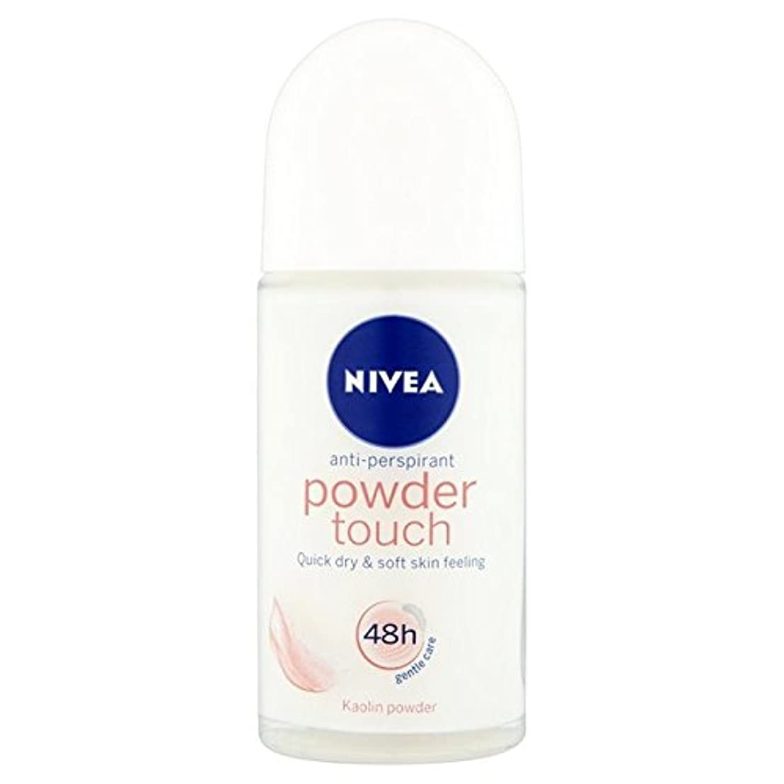 富壊滅的な背景Nivea Powder Touch 48hr Roll On Anti-Perspirant Deodorant 50ml - 制汗デオドラント50ミリリットルのニベアパウダータッチ48時間ロール [並行輸入品]