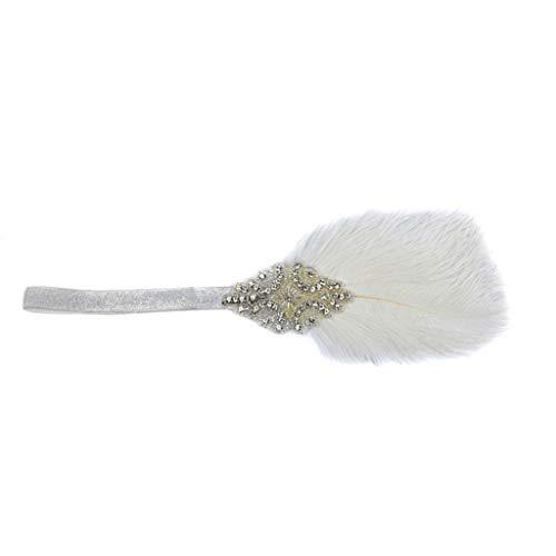 YWLINK GläNzend 1920s Stirnband Frauen Gatsby KostüM Accessoires 20er Jahre Flapper Feder Haarband Cocktail Tea Tanzparty Party Retro Karneval Headwear FüR MäDchen Und Damen