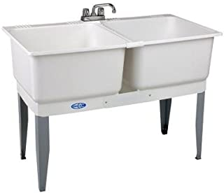 46 in. x 34 in. Utility Plastic Laundry Tub