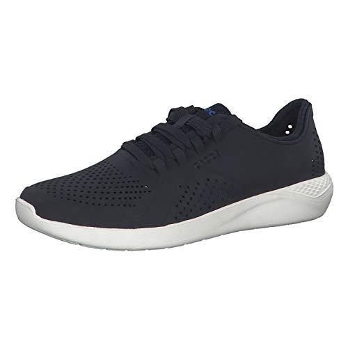 Crocs LiteRide Pacer M, Zapatillas Hombre, Azul (Navy/White 462b), 45/46 EU