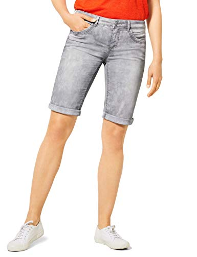 Street One Damen 373161 Jane Bermuda Bermudas, Light Grey Random Bleached, 32