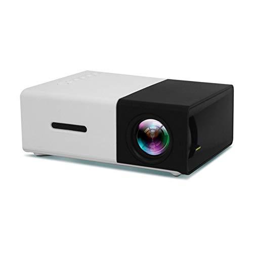 Heimthee Beamer Beamer Beamer Beamer LCD Mini 1080P draagbaar 600 lumen 3,5 mm Audio 320 x 240 pixels Home Media Project Player Super helder Zwart