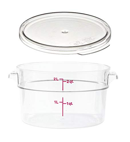 2-Quart Clear Round Food Storage Container with Lid