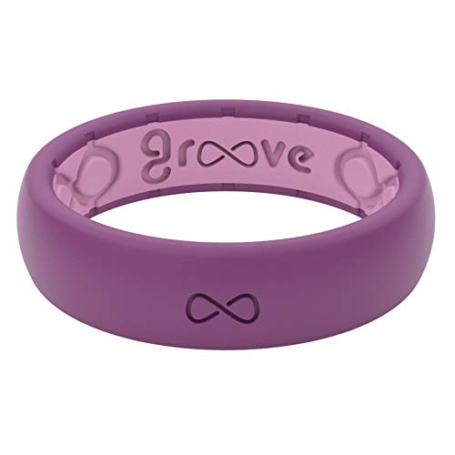 Groove Life - Silicone Ring for Men and Women Wedding or Engagement Rubber...