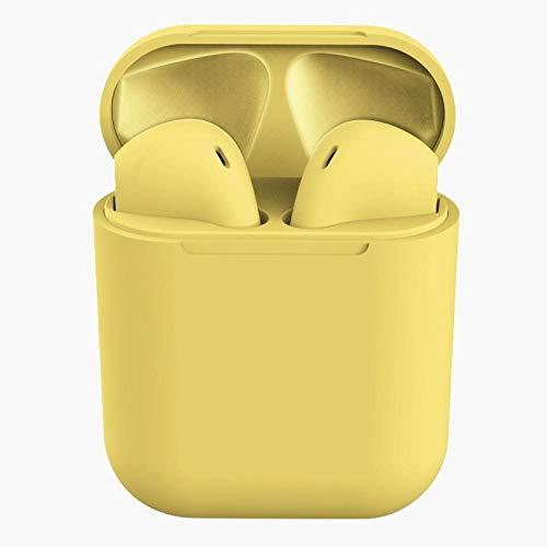 Fone De Ouvido 5.0 Sem Fio Bluetooth Colorido ROSA AMARELO AZUL E BRANCO Inpods Para Android Iphone Esportes Ciclismo - PLP MANIA