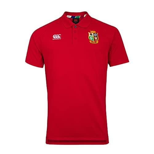 Canterbury British and Irish Lions Rugby Pique Polo, Tango Rojo, L para Hombre