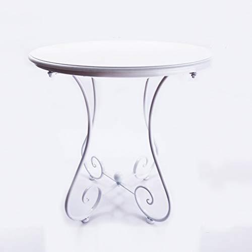Tavolino da caffè, Balcone Soggiorno Ristorante Tavolo da Bar Piccolo Tavolo da Pranzo Ferro Art Legno Tavolo Rotondo Dimensioni 40-60CM (Colore : B, Dimensioni : 55 * 65CM)