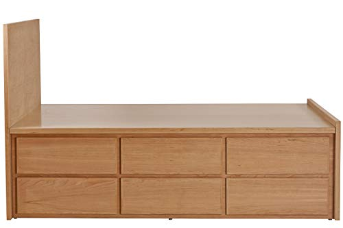 New Urbangreen 12 Drawer Thompson Storage Bed with Headboard in Cherry, King, Toffee