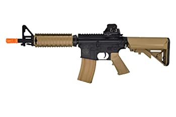 Colt M4A1 CQBR Dark Earth Combat Electric Powered Airsoft Gun with Adjustable Hop-Up 453 FPS