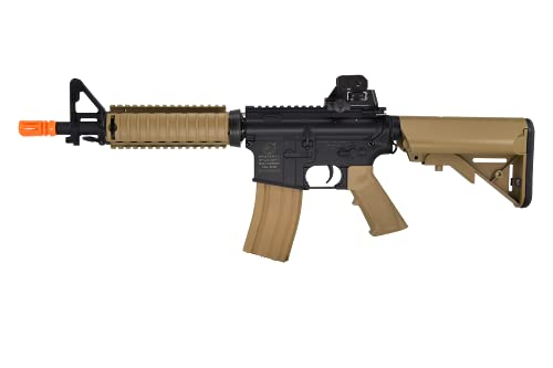 Colt M4A1 CQBR Dark Earth Combat Electric Powered Airsoft Gun with Adjustable Hop-Up, 453 FPS