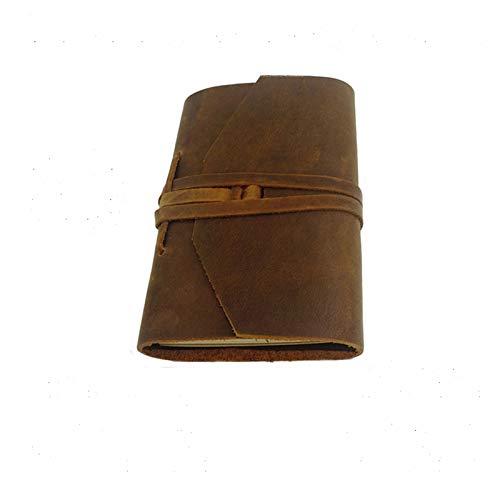 ledergebundenes Notizbuch für Sie und Ihn zum Schreiben, Tagebuch Leder Vintage Leder Notizbuch mit handgefertigten Bindung Seil für Geschenk
