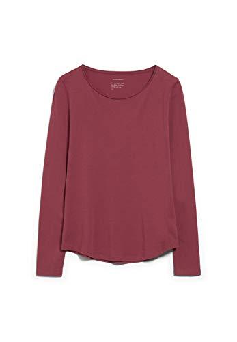 ARMEDANGELS ROJAA - Damen Longsleeve aus Bio-Baumwolle XL Rosewood Shirts Longsleeve Slim Fit