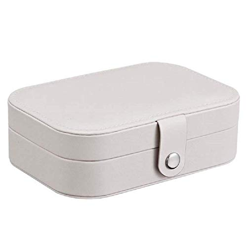 Vbtsqp Portable Travel Jewelry Multifunctional Storage Box, Simple Earring Necklace Box Rack Girl Storage Box, Jewelry Storage Box