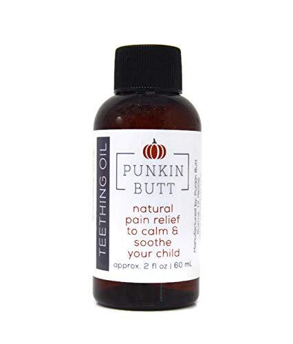 Punkin Butt Teething Oil 2 oz Bottle. Chamomile, clove, peppermint. Natural, safe, effective; PETA Cruelty-Free, Vegan, use as often as needed on swollen...