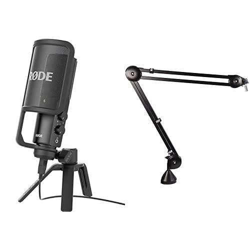 Rode microphones NT-USBMicrófono (USB, 3.5 mm), Color Negro + PSA1Accesorio para micrófono