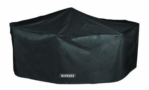 Bosmere Protector 6000 Storm Black 6 Seat Rectangular Patio Set Cover - Black, D530