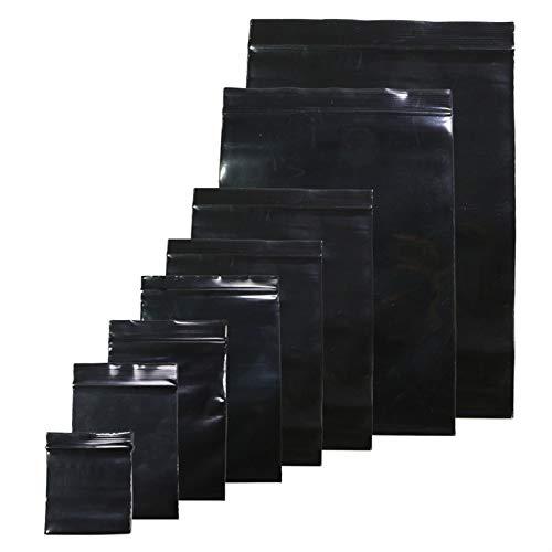 Útil 100pcs / lote Color negro Sellado Sellado Bolsas de plástico, bolsas de poli Ziplock Bolsas de cremallera Bolsa de almacenamiento de bloqueo con cremallera Fácil de almacenar ( Color : 8x12cm )