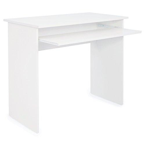 COMIFORT Schreibtisch mit Ausziehbarer Ablage - Robuster Computertisch in Modernem und Minimalistischem Stil, für Arbeits- oder Studienzimmer, Farbe: Sonomaeiche