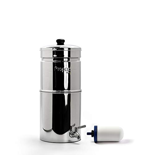 Propur Traveler Countertop Gravity Water Filter System - Removes Fluoride, Lead, Chlorine,...