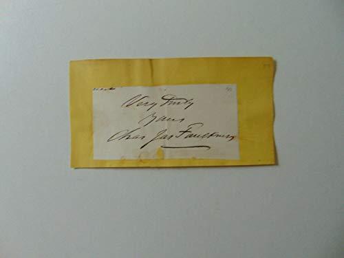 "RARE!""West Virginia Senator"" Charles James Faulkner Clipped Signature COA"