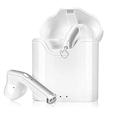 New Wireless Earbuds Bluetooth 5.0 Headphones CVC8.0 Noise Canceling Bluetooth Headphones in-Ear 3D Stereo Headset with Fast Charging Case for iPhone/Samsung/Android AirPods Pro Apple Earbuds