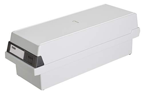 HAN 957-11 kaartenbak A7 dwars, voor 1300 kaarten, 2 steunplaten m. zichtwielen Single A7 quer | 1 Karteikasten lichtgrijs