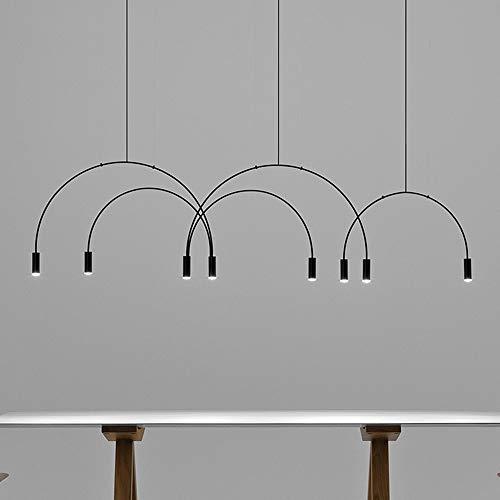 LED-lamp Nordic modern minimalistisch van smeedijzer met drie koppen eetkamer woonkamer kroonluchters afmetingen 90 cm * 55 cm lampen en lantaarns woonkamer eetkamer Villa slaapkamer studio