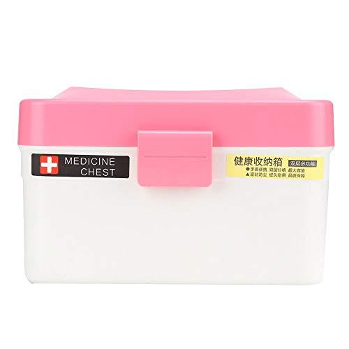 Jarchii Keramik gut versiegelte Medizin Aufbewahrungsbox, Hausmedizin Truhe, Hausmedizin Truhe für Haus Familie Badezimmer(red)