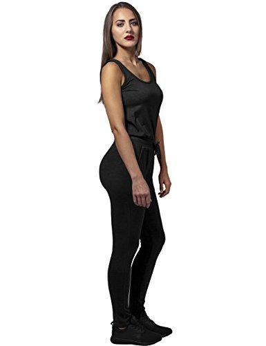 Urban Classics Damen Jumpsuit Ladies Melange, Schwarz Black 825 - 6