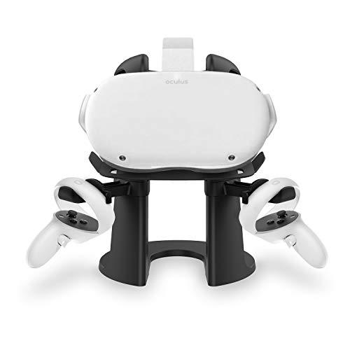 AMVR VRスタンド、ヘッドセットディスプレイホルダー、Oculus Rift S / Oculus Quest / Oculus Quest 2ヘッドセットおよびタッチコントローラー用コントローラーマウントステーション