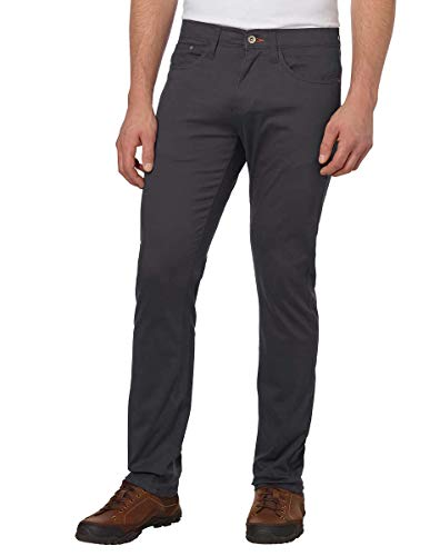Weatherproof Vintage Men's 5 Pocket Twill Pant (Charcoal, 32 x 32)