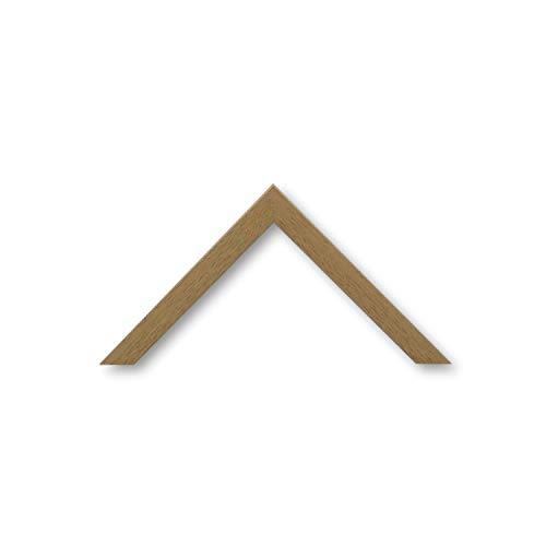 Bilderrahmen Urbino 2,0 Eiche Natur Braun I DIN A3 (29,7 x 42,0 cm) mit Normalglas (WRF) I handgefertigter Holz Fotorahmen Posterrahmen Urkundenrahmen I Leerrahmen Holz inklusive Montagematerial