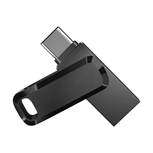 LYY USB Flash Drive, Ultra Dual Flash Disk 32GB 64GB 128GB 256GB USB3.1 150MB/S Pen Dirves Stick Suitable for Type-C Smartphone Mac,32gb