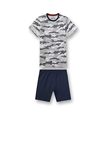 Sanetta Jungen Pyjama Kurz Schlafanzughose, Grau (grau 1988), (Herstellergröße:128)