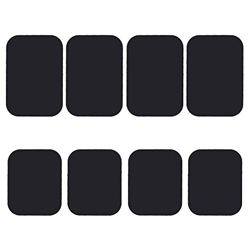 Best Tek Mount Metal Plate, Phone Magnet Sticker, Metal Plate for Magnetic Mount 8 Pack