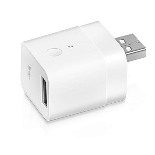SONOFF Micro mini Wi-Fi Smart USB Adapter 5V, Smart Schalter für Typ A USB Geräte, kompatibel mit Alexa/Google Home, APP Fernbedienung, Sprachsteuerung, Timerfunktion, kein Hub erforderlich