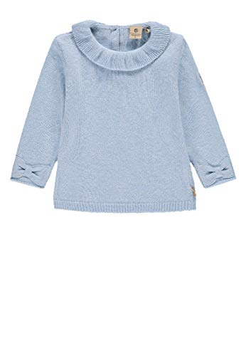 Bellybutton mother nature & me Baby-Mädchen Pullover, Blau (Forget-Me-Not|Blue 3171), (Herstellergröße: 62)