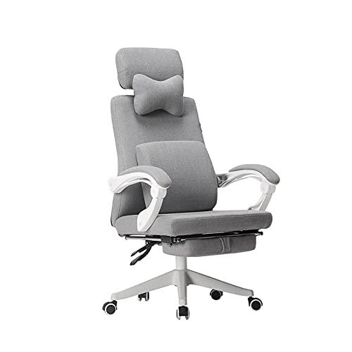 KJLY Sillas de Oficina de Oficina for el hogar,sillas ergonómicas de Videojuegos,cómodo reclinación con reposapiés,Silla de Escritorio