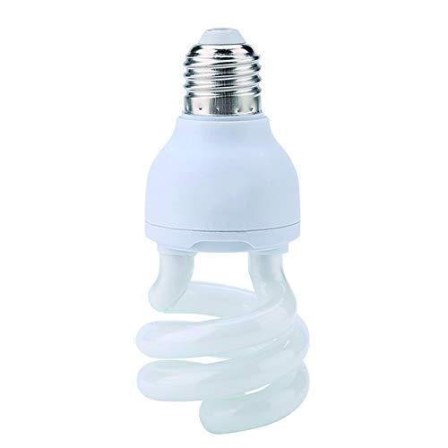 HEEPDD UVB Rettile Light Bulb, Spiral Compact Rettile Sunlight UVB 10.0 Lampada riscaldante per Desert Type Rettile Lucertola Tartaruga Tartaruga 220-240V(5W)