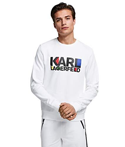 Karl Lagerfeld Herren Kapuzenpullover Bianco S