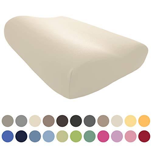 EddaLux Bezug für Tempur ORIGINAL S/M/L/XL Schlafkissen | Hochwertiger Jersey-Kissenbezug für Nackenstützkissen | 50x31 cm | 50x30 cm | 100% Baumwolle | Farbe: Natur