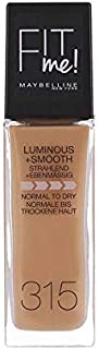 Maybelline New York Fit Me Liquid Face Foundation, 315 Soft Honey